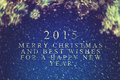 Happy new year greeting on blue background Royalty Free Stock Image