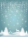 2019 Happy New Year Snowfall fantasy 3d craft