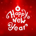 Happy new year greeting card illustration Stock Photography