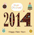 Happy new year greeting card vector Royalty Free Stock Image