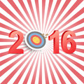 Happy new year 2016 greeting card Royalty Free Stock Photo