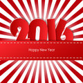 Happy new year 2016 greeting card. Royalty Free Stock Photo
