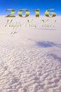 Happy New Year 2016 Greeting Levitating High Up Royalty Free Stock Photo