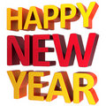 Happy New Year greeting text (Hi-Res) Stock Photography
