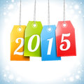 Happy New 2015 Year Greetings Card
