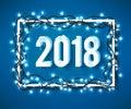 Happy 2018 new year Royalty Free Stock Photo