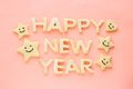 Happy new year homemade cookies Royalty Free Stock Photo