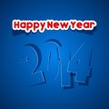 Happy new year illustration Royalty Free Stock Photography