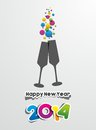Happy new year illustration Stock Image