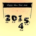 Happy new year illustration with numbers Royalty Free Stock Photos