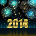 Happy new year illustration vector background Royalty Free Stock Images