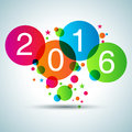 Royalty Free Stock Photography Happy New Year 2016