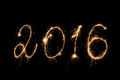 Happy New Year 2016. Inscription sparklers Royalty Free Stock Photo