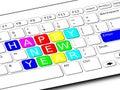 Happy New Year Keyboard Royalty Free Stock Photo
