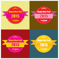 Happy new year labels vintage set vector elements business signs logos badges Stock Image