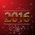 Happy New Year and Merry Christmas 2016 greeting card. Royalty Free Stock Photo