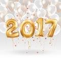 Happy New Year Metallic Gold B...