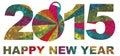 2015 Happy New Year Numerals I...
