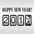 Happy new year odometer background design with eps file Royalty Free Stock Images