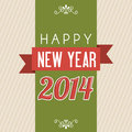 Happy new year over lineal background vector illustration Stock Photography