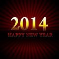 Happy new year over red rays golden Royalty Free Stock Images
