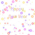 Happy New Year & Pastel Bubbles Stock Photography