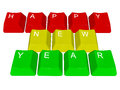 Happy new year pc keys illustration of isolated Royalty Free Stock Image