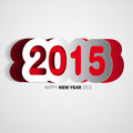 Happy new year rainbow colored background with papercut illustration Royalty Free Stock Photo