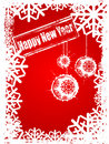 Happy New Year red background Stock Images