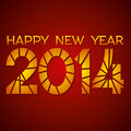 Happy new year red background Royalty Free Stock Image
