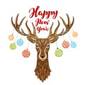 Happy New Year. Reindeer With ...