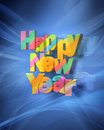 Happy New Year Rendering Stock Image