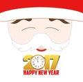 Happy new year 2017, santa claus background Royalty Free Stock Photo