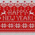 Happy New Year: Scandinavian seamless knitted pattern Stock Photo