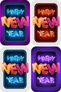 Happy New Year Set Royalty Free Stock Photo