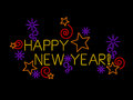 Happy New Year Sign Royalty Free Stock Photography
