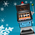 Happy New Year slot machine Stock Image