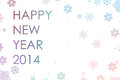 Happy new year text snowflakes with Royalty Free Stock Images