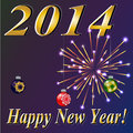 Happy new year vector created by mesh envelop distort gradients brash and blend tools Royalty Free Stock Photography