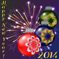 Happy new year vector created by mesh envelop distort gradients brash and blend tools Royalty Free Stock Image