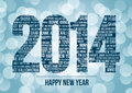 Happy new year vector illustration of with in different languages Stock Image