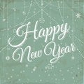 Happy new year vintage background style with scripted font message Royalty Free Stock Photo