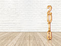 Happy new year 2018 wood number 3d rendering in perspective wo Royalty Free Stock Photo