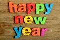 Happy New Year word Royalty Free Stock Photo