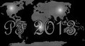 Happy new year world Royalty Free Stock Photos
