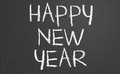 Happy new year written on a chalkboard Royalty Free Stock Images