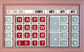 Happy new year 2017 written replaced on an old keypad Royalty Free Stock Photo