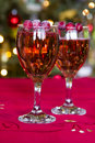 Happy new yer year champagne and party decoration Royalty Free Stock Photo