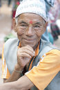 Happy newar man from Bhaktapur Stock Images