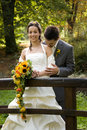 Happy newlywed couple Royalty Free Stock Photo